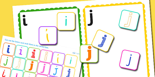 i and j Confusing Letter Sorting Activity - letters, sorting