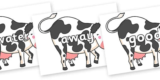 Next 200 Common Words on Hullabaloo Cow to Support Teaching on Farmyard Hullabaloo - Next 200 Common Words on  - DfES Letters and Sounds, Letters and Sounds, Letters and sounds words, Common words, 200 common words