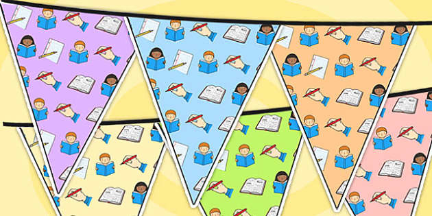 Literacy Area Themed Bunting - literacy, classroom areas, bunting