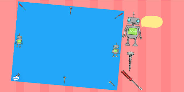 Robot Themed Editable PowerPoint Background Template - robot