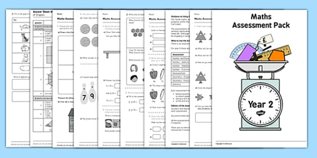 Year 2 Maths Assessment Pack Term 1 - assessment, pack, year 2, maths, numbers