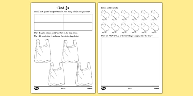 Find a Quarter Activity Sheet - find, quarter, worksheet, work, sheet