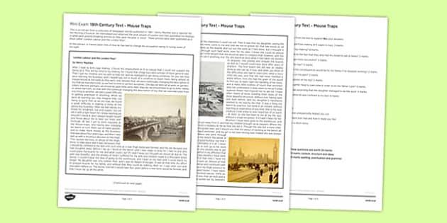 Mini Exam 19th Century Text Mouse Traps - mini exam, 19th, century, text, mouse traps