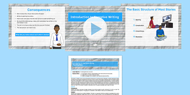 Introduction to Narrative Writing Lesson Pack - introduction, narrative, writing, lesson pack, lesson, pack