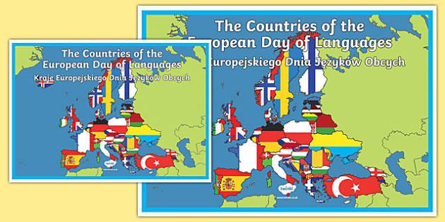 European Day of Languages A2 Display Poster Polish Translation-Polish-translation