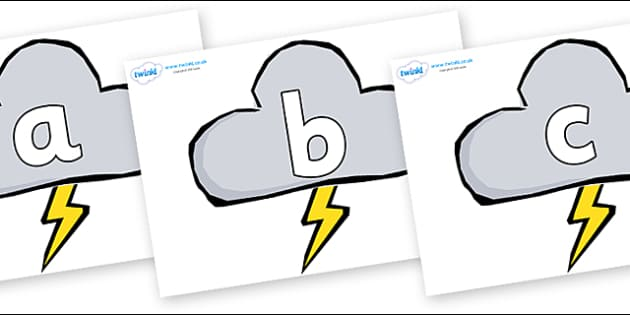 Phoneme Set on Weather Symbols (Stormy) - Phoneme set, phonemes, phoneme, Letters and Sounds, DfES, display, Phase 1, Phase 2, Phase 3, Phase 5, Foundation, Literacy