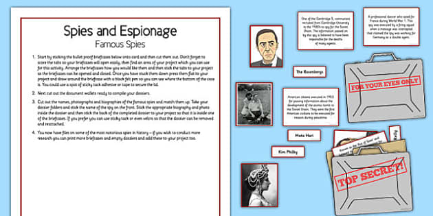Spies and Espionage Famous Spies - spies, espionage, famous spies, home education