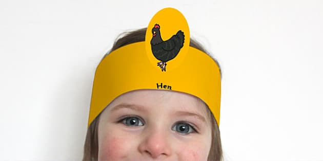 African Hen Story Role Play Headbands - headband, game, dress