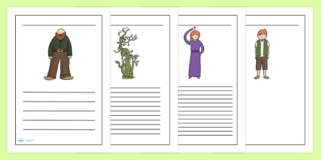 Jack and the Beanstalk Writing Frames - writing frame, frame, writing, writing aid, jack, jack and the bean stalk, jack writing frames, jack and the beanstalk frames, writing template, template, literacy