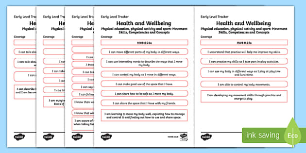 CfE Health and Wellbeing (Physical Education, Physical Activity and Sport) Early Level Child Friendly Tracking