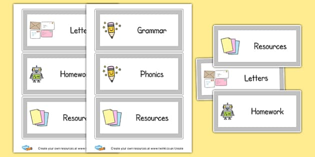 Large Tray Labels - Drawer & Peg Name Labels Primary Resources, Name Label, Label, Peg