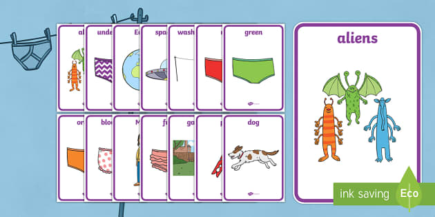 Display Posters to Support Teaching on Aliens Love Underpants - aliens, woolly, long johns, space ship, underpants, Claire Freedman, display, banner, poster, sign, story book, book, book resources, story, bloomers, knickers, frilly, earth, radar, red