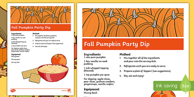 Fall Pumpkin Party Dip Recipe