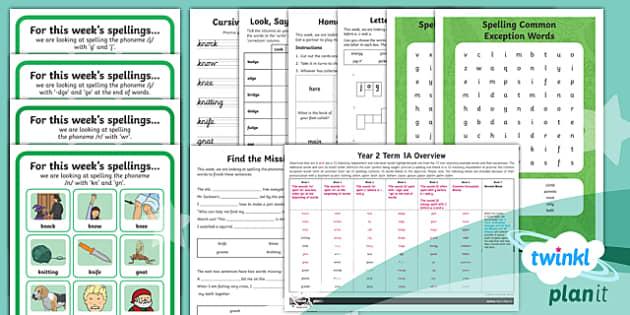 PlanIt Y2 Term 1A Bumper Spelling Pack