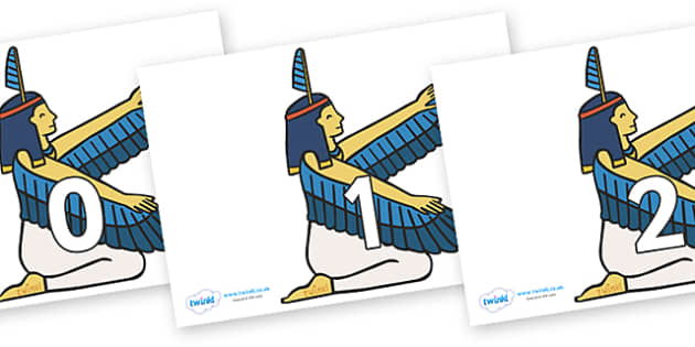 Numbers 0-100 on Egyptian - 0-100, foundation stage numeracy, Number recognition, Number flashcards, counting, number frieze, Display numbers, number posters