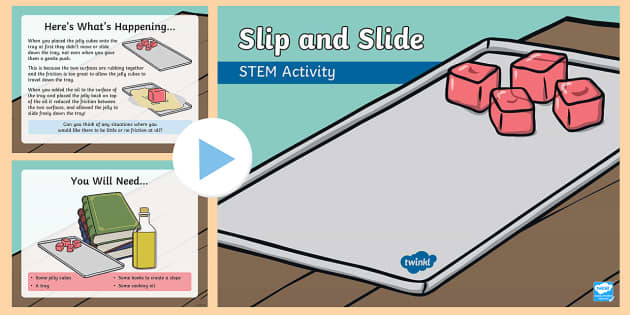 Slip and Slide PowerPoint - Make a Move! STEM Science Movement and Energy Wind Forces Experiment
