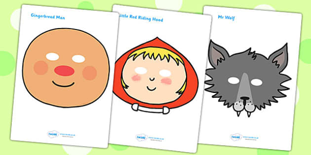 Role Play Masks to Support Teaching on The Jolly Christmas Postman - role play, masks