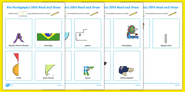 Rio Paralympics 2016 Read and Draw SEN Differentiated Activity Sheet Pack, worksheet
