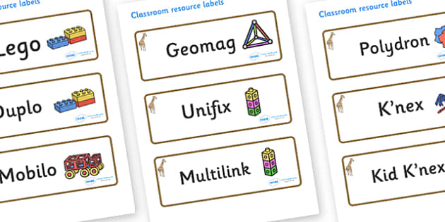 Giraffe Themed Editable Construction Area Resource Labels - Themed Construction resource labels, Label template, Resource Label, Name Labels, Editable Labels, Drawer Labels, KS1 Labels, Foundation Labels, Foundation Stage Labels