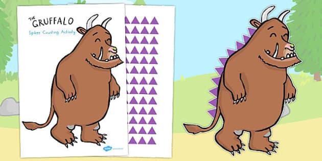 The Gruffalo's Spikes Counting Activity - australia, gruffalo