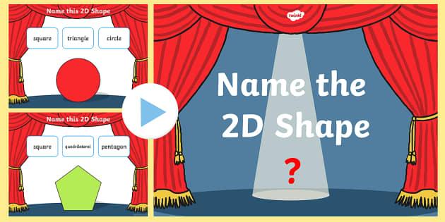 Name the 2D Shape KS1 PowerPoint Quiz - quiz, 2d, shape, name