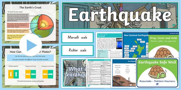 New Zealand Earthquake Resource Pack - New Zealand Natural Disasters, earthquake, tsunami, volcano, monsoon, hurricane, flood, tornado,Aust