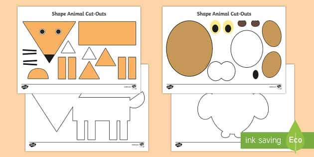 2D Animals Activity Sheets