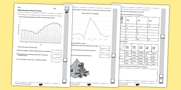 Year 5 Maths Assessment Statistics Term 1 - year, 5, assessment, maths