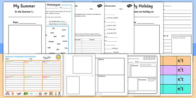 KS2 Summer Holiday Homework Pack - summer holidays, holiday