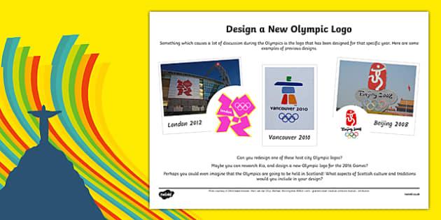 The Olympics - Design a Logo Activity Sheet-Scottish, worksheet