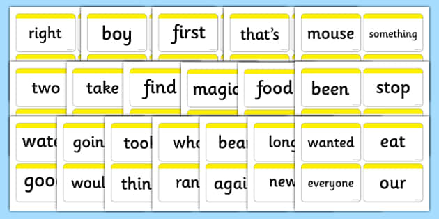 Next 200 Common Word Cards - DfES Letters and Sounds, Letters and Sounds, Letters and sounds words, Common words, 200 common words