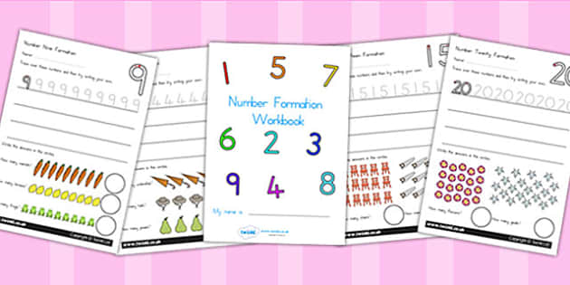 Number Formation Workbook 0 20 - number formation, motor skills