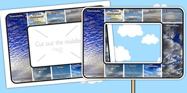 Cloud Type Identifier Visual Aid - clouds, science, visual aid