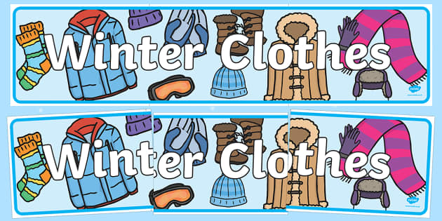 Winter Clothes Display Banner