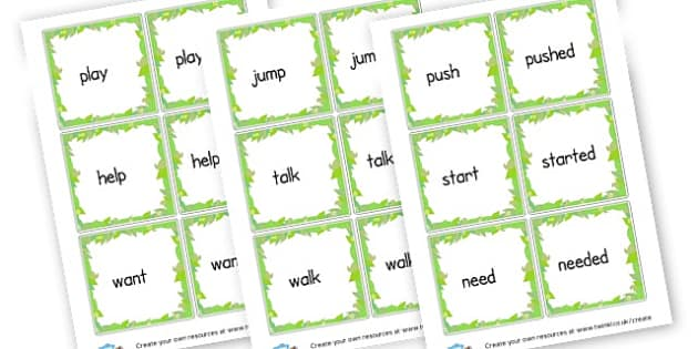 -ed Suffix Flashcards - Prefixes and Suffixes Primary Resources, Words and Vocabulary