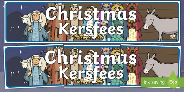 Christmas Display Banner English/Afrikaans - Christmas Display Banner (Christmas) - Christmas, xmas, display banner, Santa, Father Christmas, tre