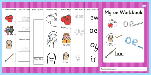 Phase 5 oe Grapheme Workbook - phase five, graphemes, literacy
