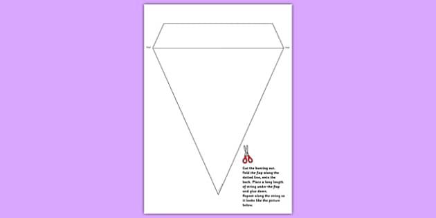 Blank Bunting Template - bunting, bunting template, blank template, blank bunting, display bunting, bunting for display, classroom display, display