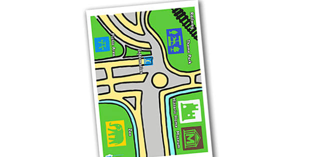 Tourist Information Role Play Map - tourist information, map, tourist map, role play, role play map, map for role play, informative map
