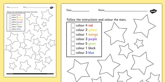Counting Instructions Colouring Sheet - counting, colouring