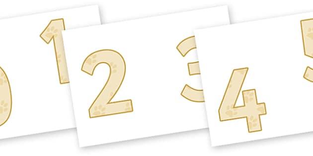 0-9 Display Numbers (Pets) - Display numbers, 0-9, numbers, display numerals, Spring, display lettering, display numbers, display, cut out lettering, lettering for display, display numbers, pets, cat, dog, rabbit, mouse, guinea pig, rat, hamster, ger