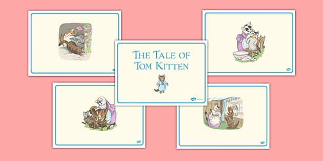 Beatrix Potter - The Story of Tom Kitten Story Sequencing - beatrix potter, tom kitten