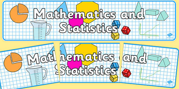 Mathematics and Statistics Display Banner NZ - nz, new zealand, mathematics, display