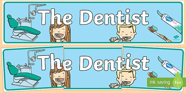 Dentists/Dental Surgery Role Play Display Banner - Dentists/Dental Surgery Role Play Pack, banner, dentist, dental nurse, checkup, teeth, dental care, dental health, filling, extraction, health, role play, display, poster