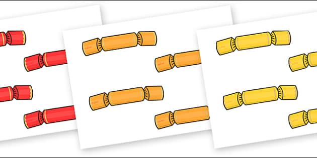 Christmas Crackers Editable - christmas, crackers, display