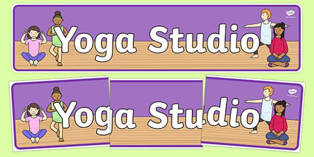 Yoga Studio Display Banner