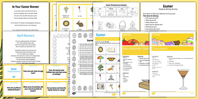 Elderly Care Easter Resource Pack - elderly care, adult education, easter, resource pack