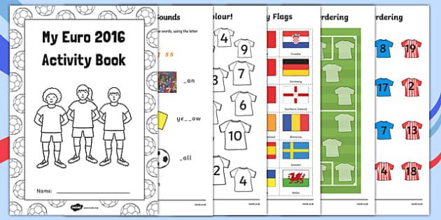 EYFS Euro 2016 Reception FS2 Activity Booklet