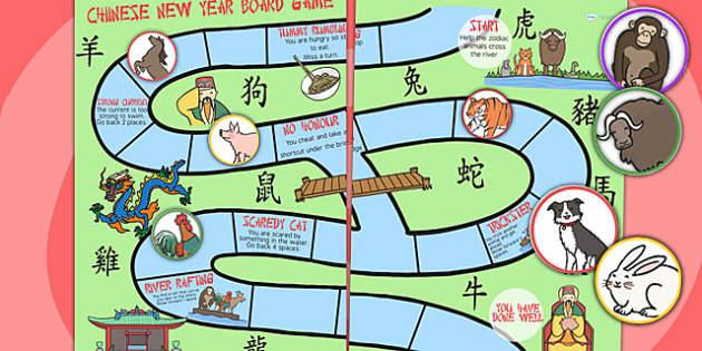 Chinese New Year Animal Race Board Game - - Australia, chinese new year