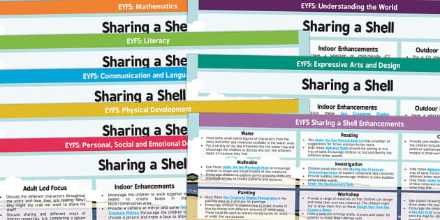 EYFS Lesson Plan and Enhancement Ideas to Support Teaching on Sharing a Shell - lesson planning, plans, story